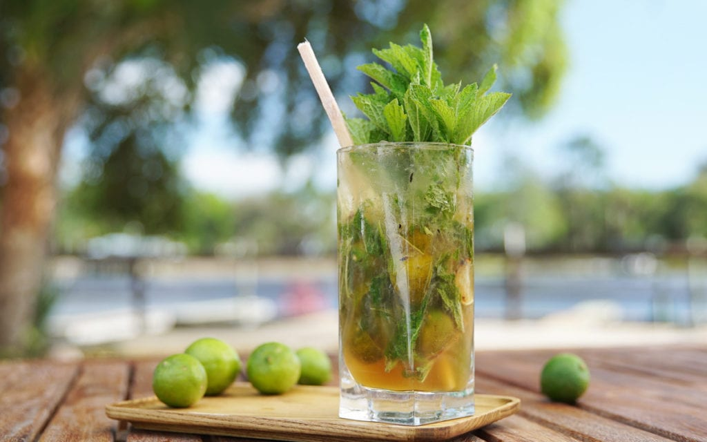 Grilled Key Lime Mojitos